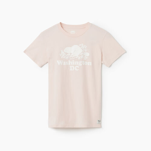 Roots-Sale Tops-Washington DC T-Shirt - Womens-Pink Cloud-A