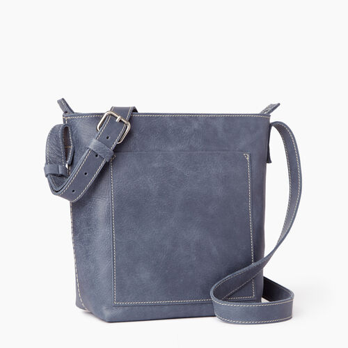 Roots-Leather  Handcrafted By Us Handbags-Rideau Crossbody-Navy-A