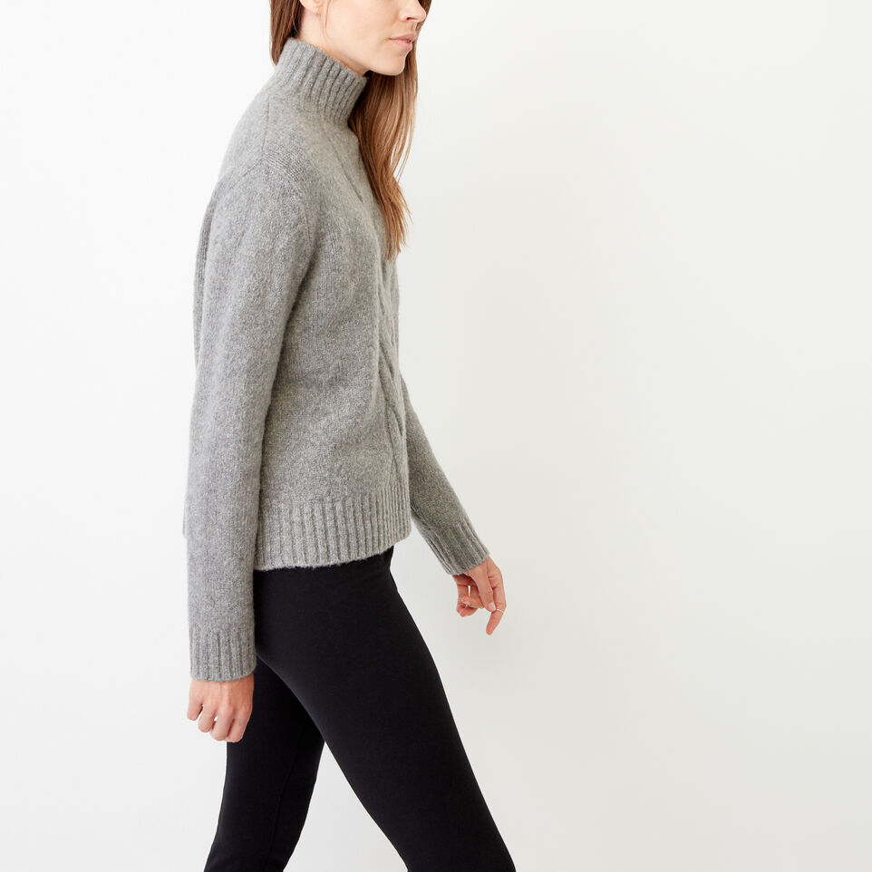 Roots-Women Our Favourite New Arrivals-Nita Cable Sweater-Grey Mix-E