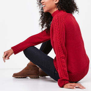 Roots-Sale Women-Aspen Mock Neck Sweater-Lodge Red-A