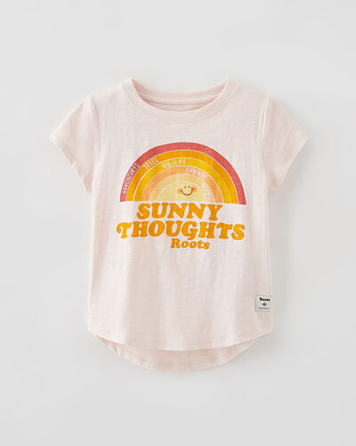 Roots-Kids Tops-Toddler Sunny Thoughts T-shirt-Mauve Morn-A