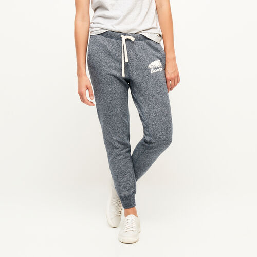 Roots-Women Sweatpants-Original Slim Cuff Sweatpant-Navy Blazer Pepper-A