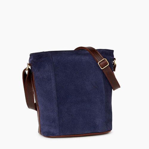 Roots-Women Categories-Victoria Bucket Suede-Navy-A