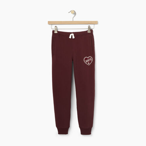 Roots-Kids Our Favourite New Arrivals-Girls Roots Patches Sweatpant-Northern Red-A