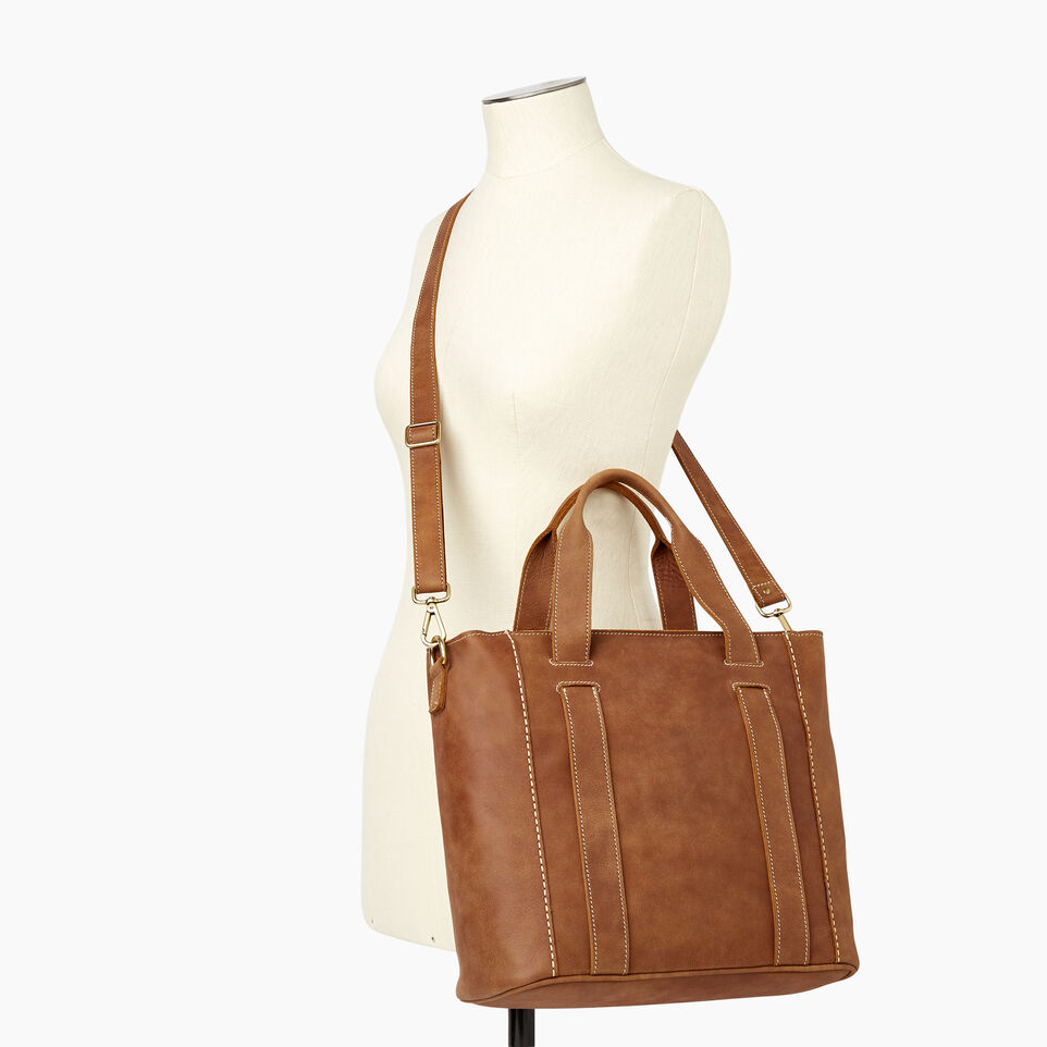 Roots-Leather  Handcrafted By Us Our Favourite New Arrivals-Victoria Tote-Natural-B