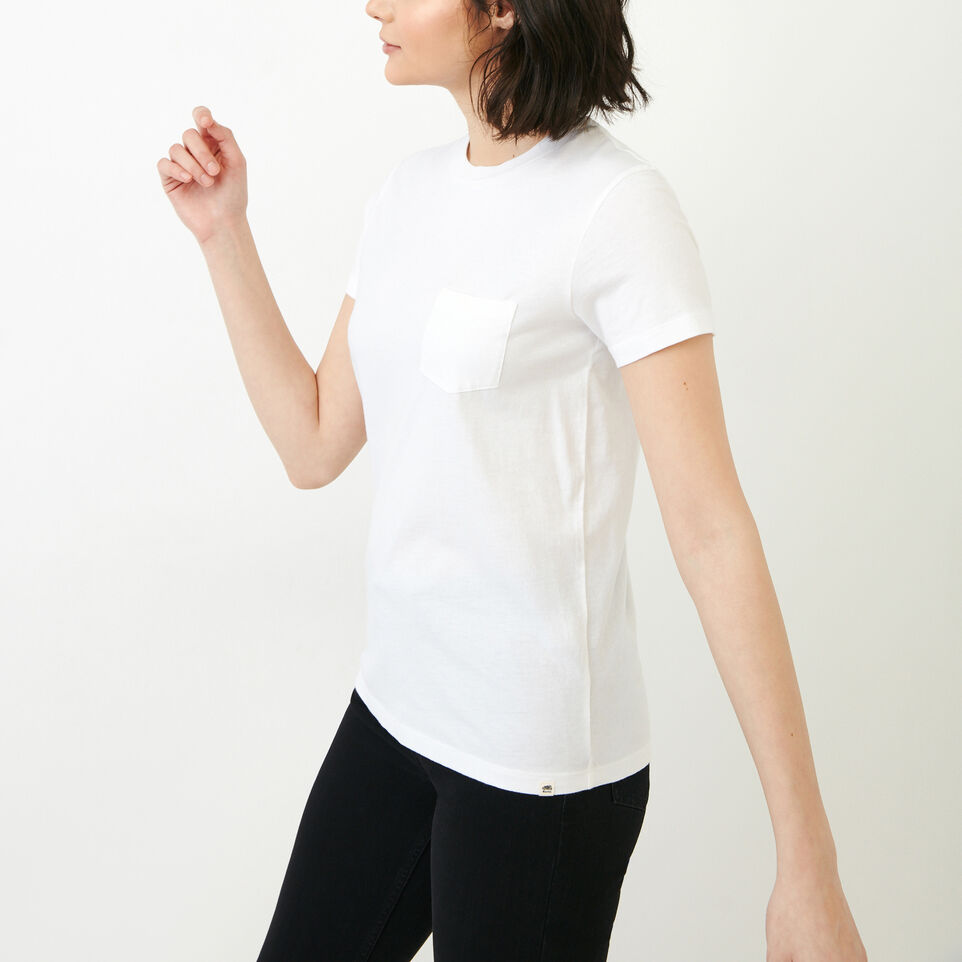 Roots-New For August Women-Essential T-shirt-Crisp White-C