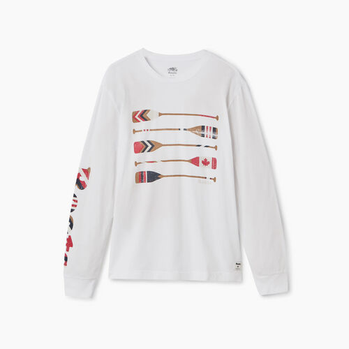 Roots-Men New Arrivals-Mens Roots Rowing Club Long sleeve T-shirt-Crisp White-A