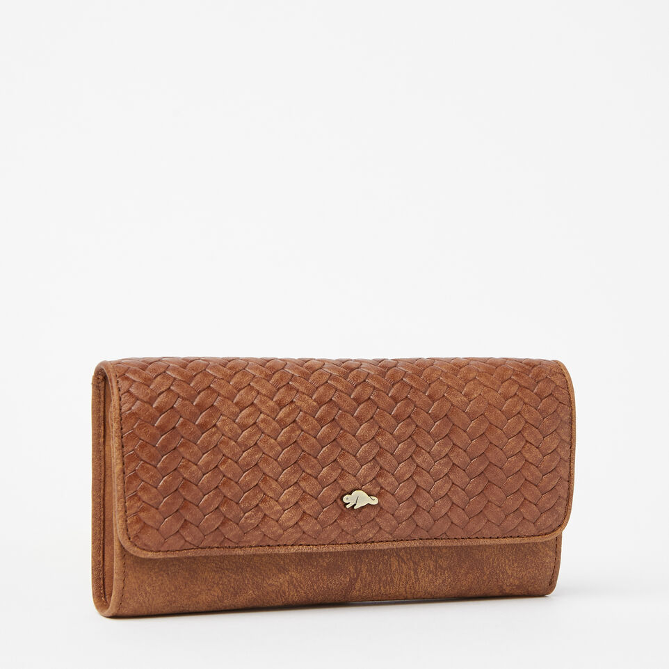 Roots-undefined-Medium Trifold Clutch Woven-undefined-F