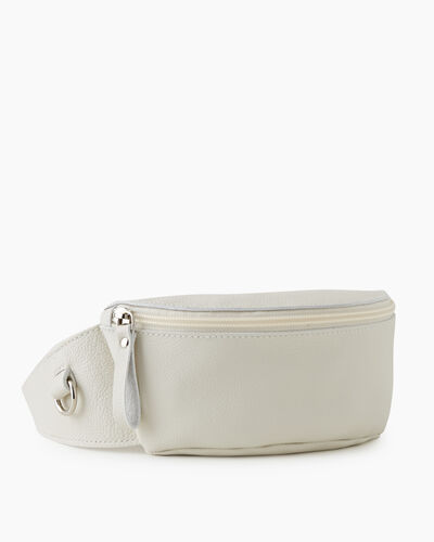 Roots-Leather New Arrivals-Small Belt Bag Cervino-Ivory-A