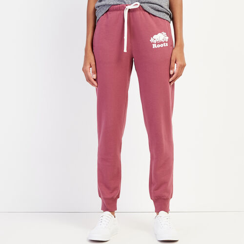 Roots-Women Slim Sweatpants-Original Slim Cuff Sweatpant-Hawthorn Rose-A