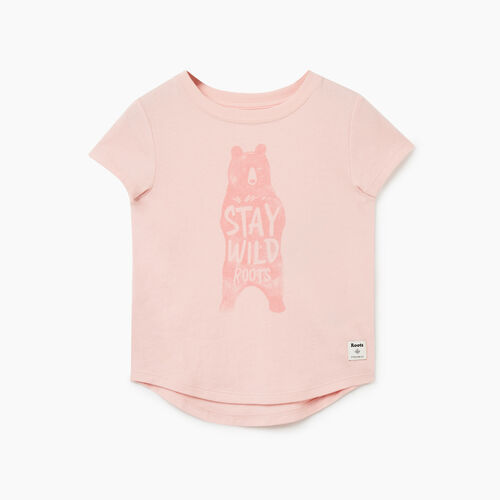 Roots-Kids Tops-Toddler Animal T-shirt-Peachskin-A