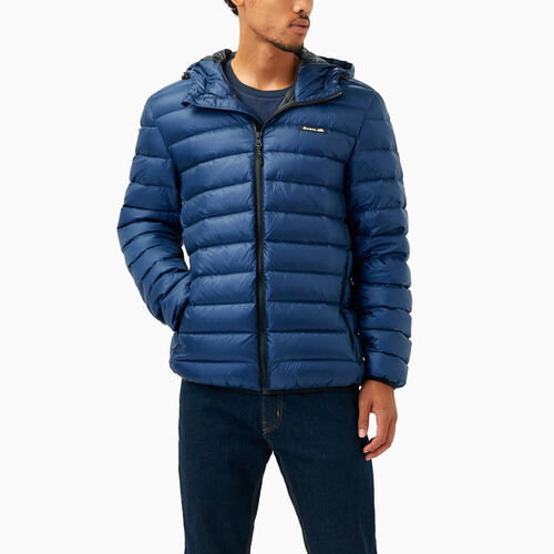 Roots-Men Outerwear-Roots Packable Down Jacket-Royal Blue-A