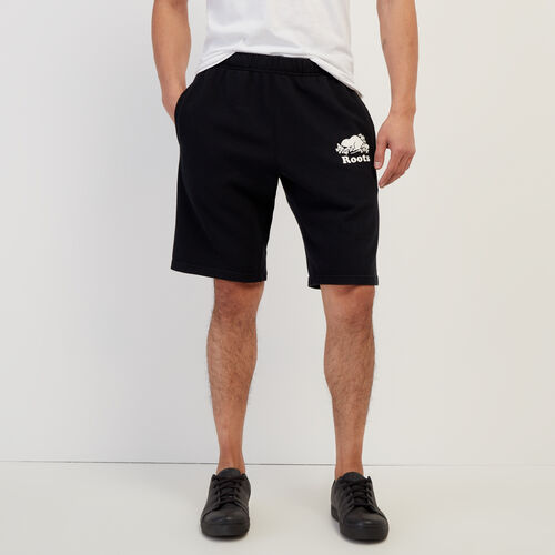 Roots-Men New Arrivals-Original Sweatshort-Black-A