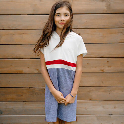 Roots-Kids Girls-Girls Cabin Dockside Dress-Light Salt & Pepper-A
