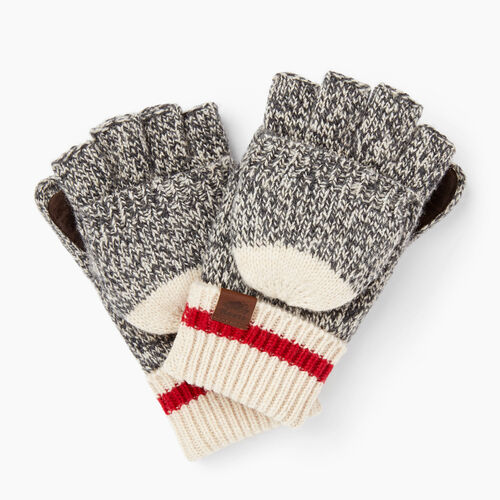 Roots-Winter Sale Women-Roots Cabin Flip Mitt-Grey Oat Mix-A