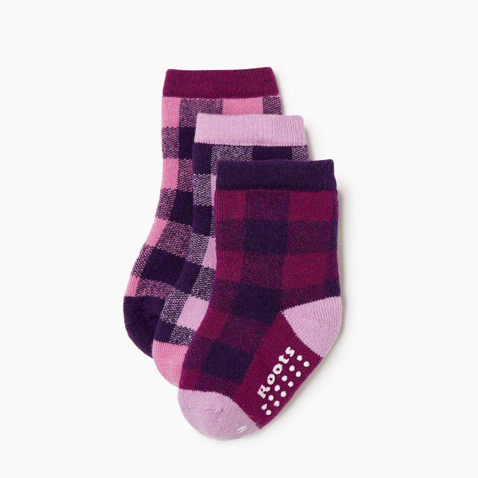 Roots-undefined-Toddler Plaid Sock 3 Pack-undefined-B