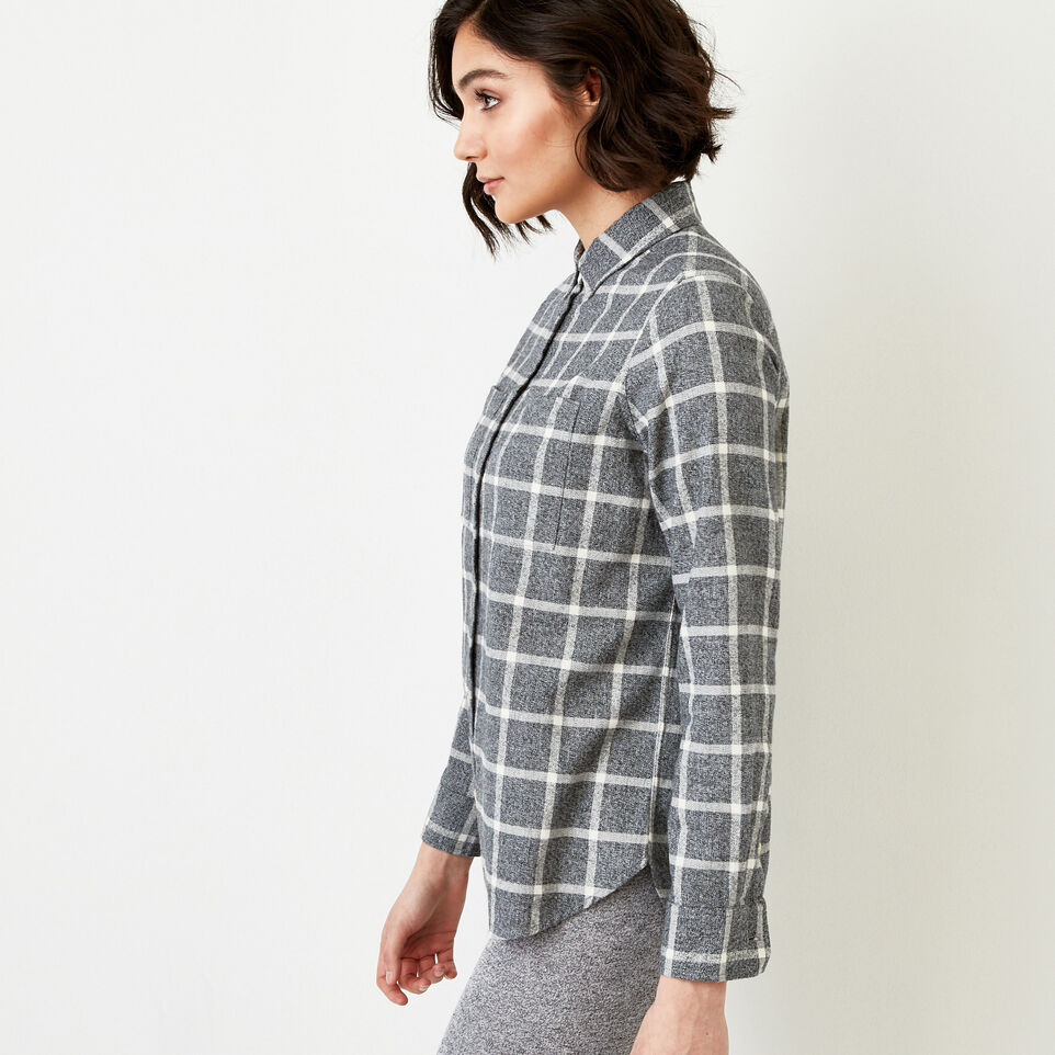 Roots-Women Our Favourite New Arrivals-Nora Flannel Shirt-Salt & Pepper-C
