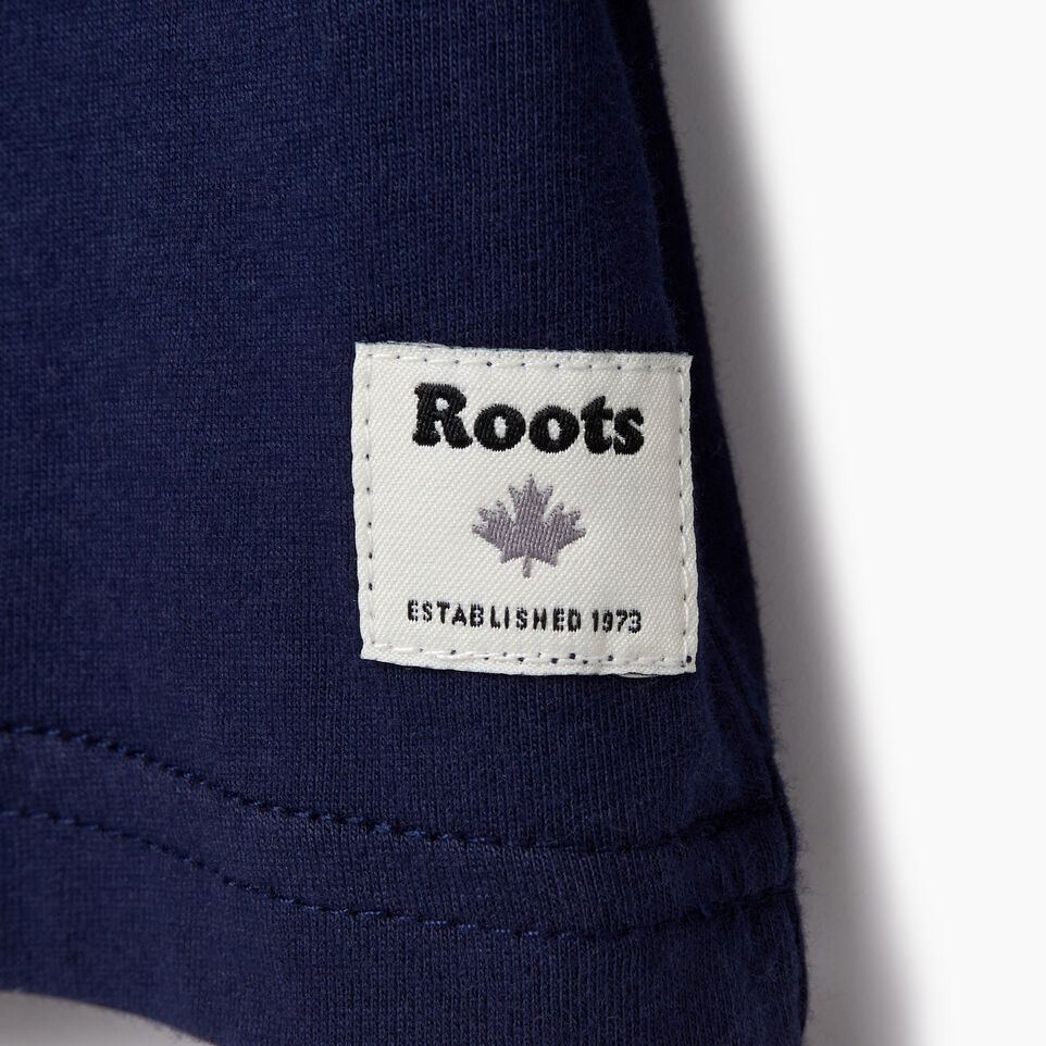 Roots-Kids Tops-Toddler Roots Rink T-shirt-Starnight Blue-D