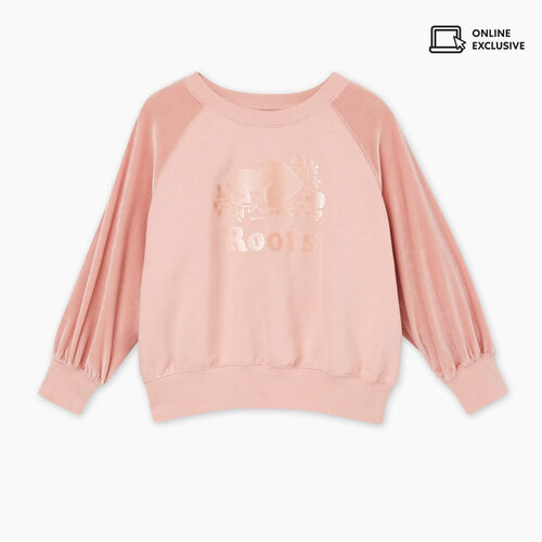 Roots-Sale Toddler-Toddler Cozy Crewneck Sweatshirt-Pale Mauve-A
