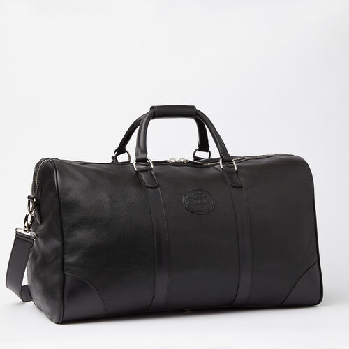 Roots-Leather  Handcrafted By Us Weekender Bags-Large Banff Bag Prince-Black-A