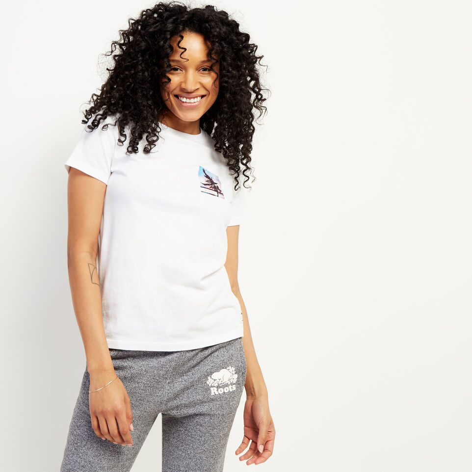 Roots-undefined-Womens Delwood T-shirt-undefined-B
