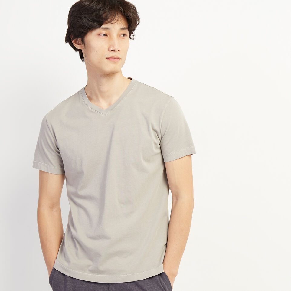 Roots-undefined-Essential V-neck T-shirt-undefined-A