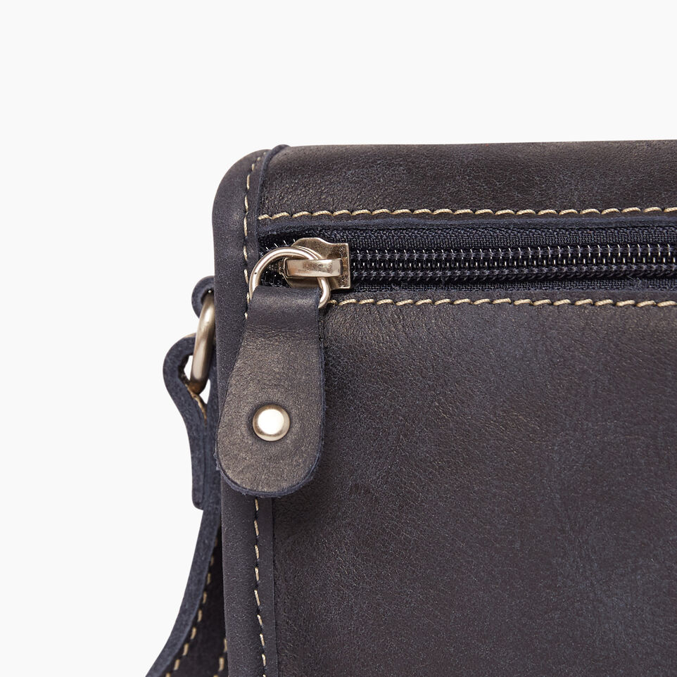Roots-Clearance Leather-Angelina Bag Tribe-Dark Navy-D