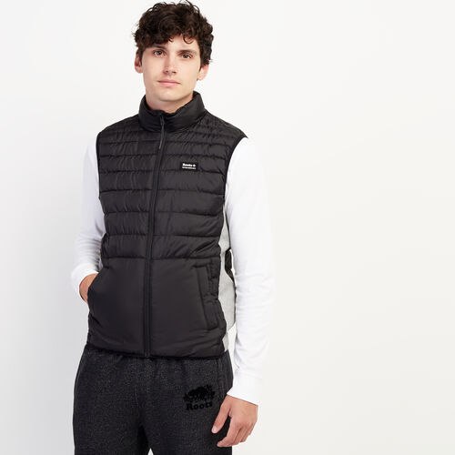 Roots-Men New Arrivals-Journey Hybrid Vest-Black-A