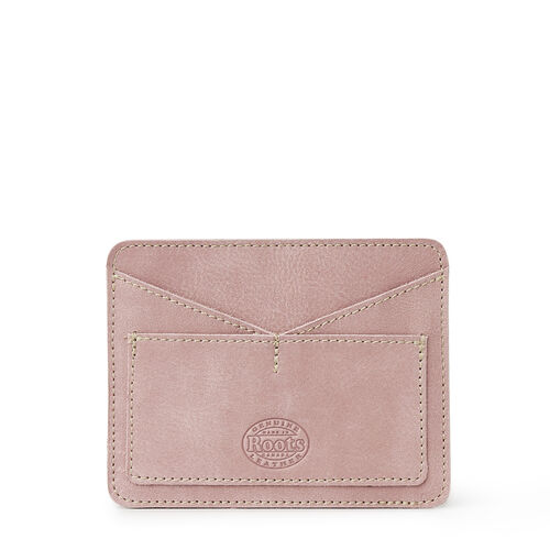 Roots-Leather Leather Accessories-Passport Card Holder Tribe-Woodrose-A