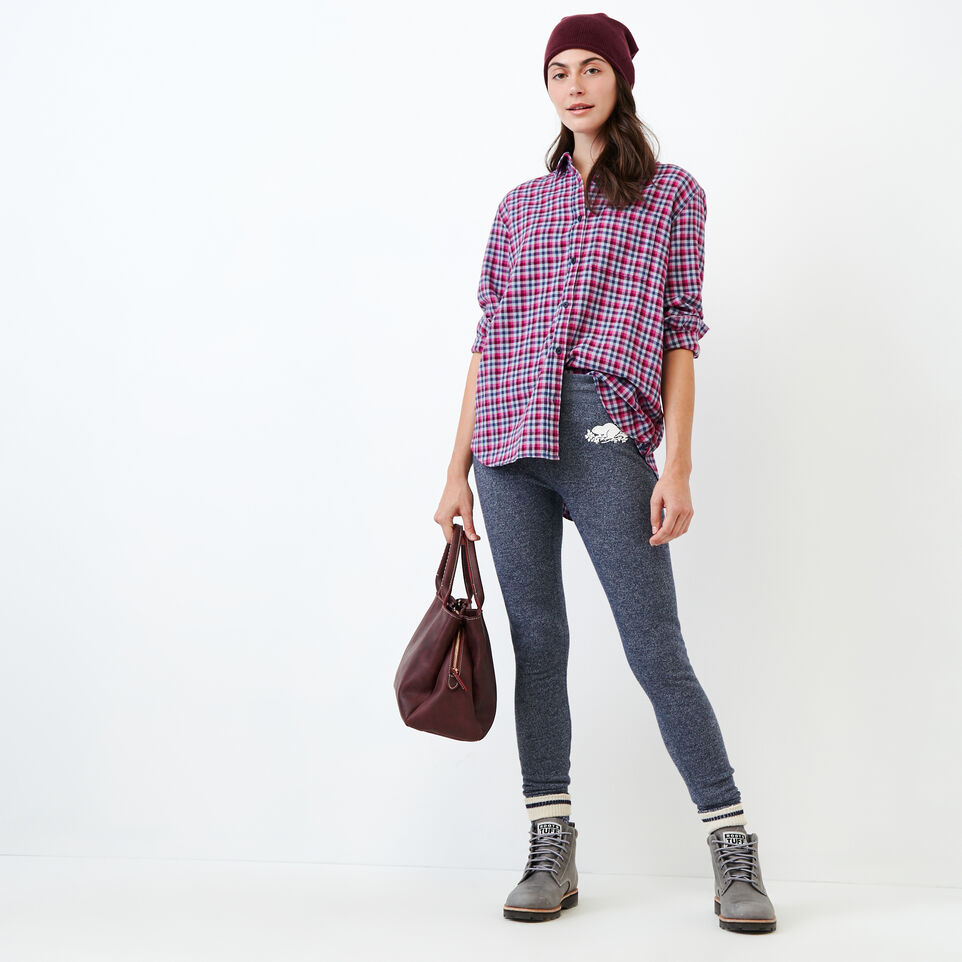 Roots-undefined-Relaxed Flannel Shirt-undefined-B