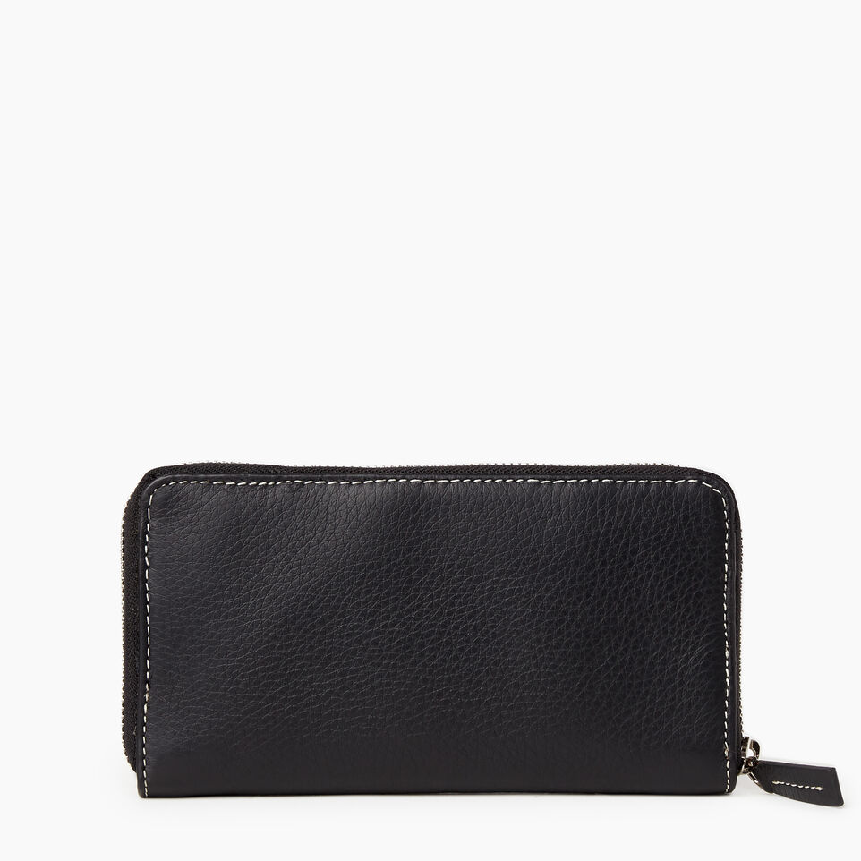 Roots-Leather Our Favourite New Arrivals-Zip Around Clutch-Black-B