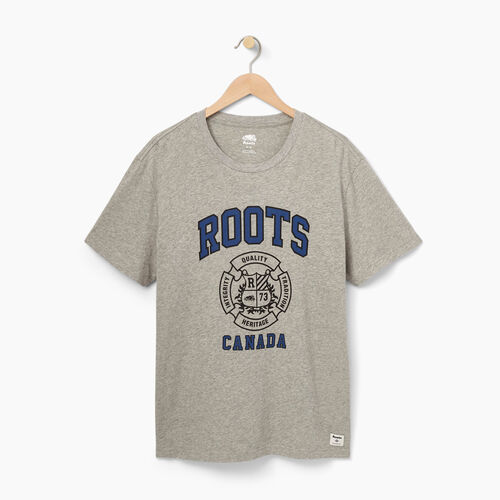 Roots-Winter Sale Tops-Mens Roots Arms T-shirt-Grey Mix-A