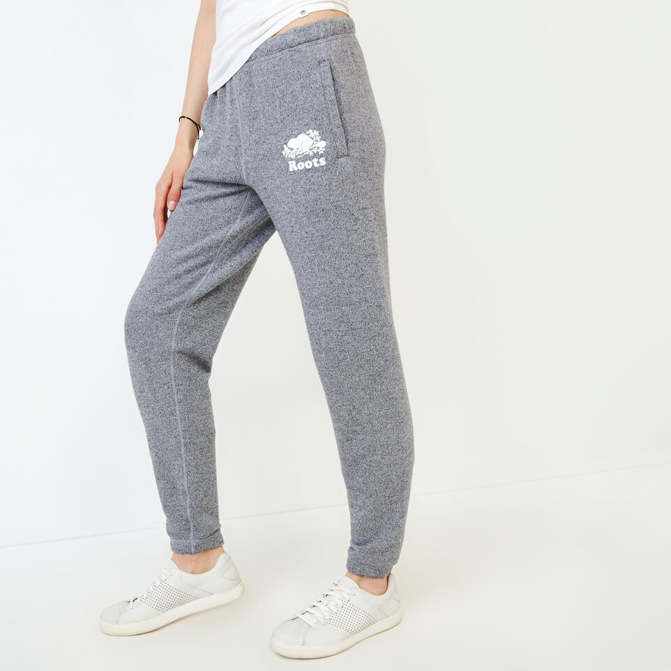 Roots-Women Clothing-Original Cozy Sweatpant-Salt & Pepper-C