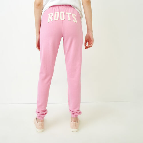 Roots-Women Sweatpants-Original Boyfriend Sweatpant-Fuchsia Purple-A