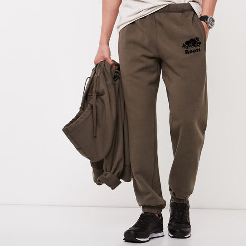 Roots-Men Original Sweatpants-Original Sweatpant-Fatigue-A
