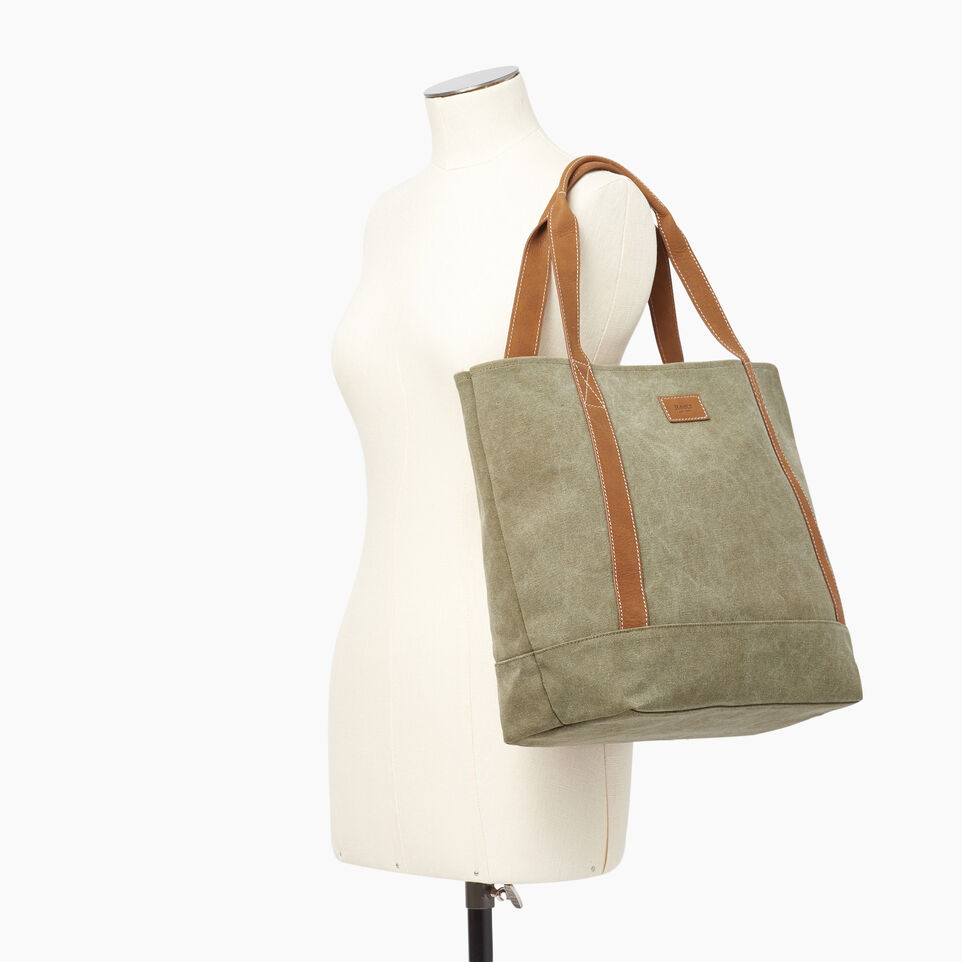 Roots-Women Our Favourite New Arrivals-Muskoka Tote Canvas-Khaki-B