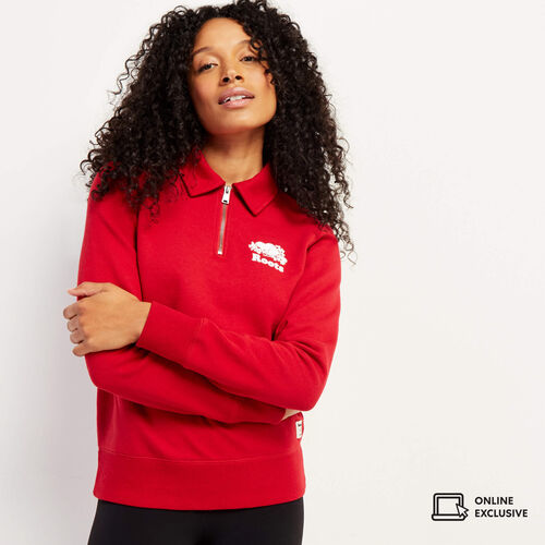 Roots-Sweats Sweatsuit Sets-Original Zip Polo-Cabin Red-A