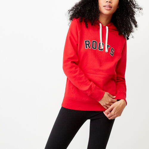 Roots-Women Sweats-Anniversary Hoody-Racing Red-A