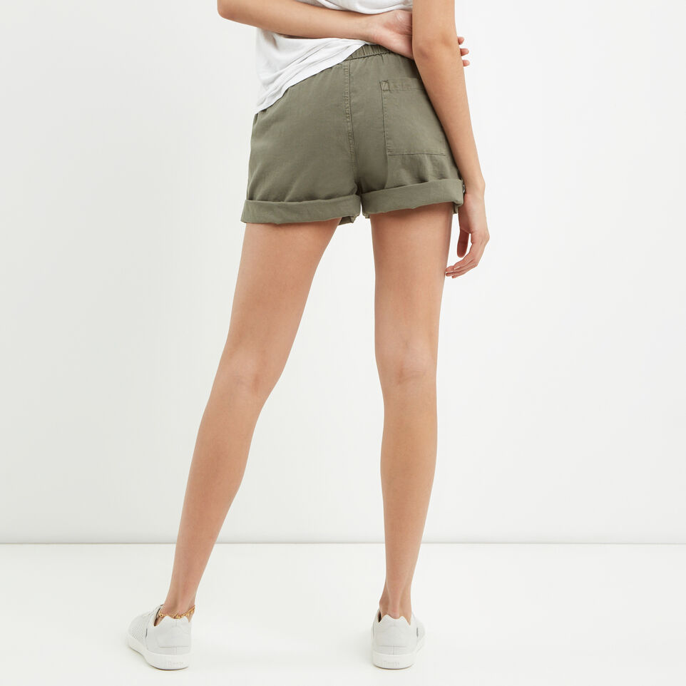 Roots-Clearance Women-Woodland Short-Dusty Olive-D