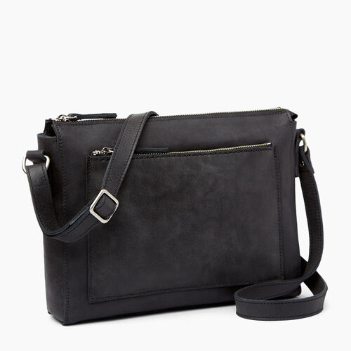 Roots-Leather  Handcrafted By Us Handbags-Robson Bag-Jet Black-A