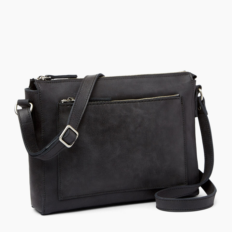Roots-Leather Handbags-Robson Bag-Jet Black-A