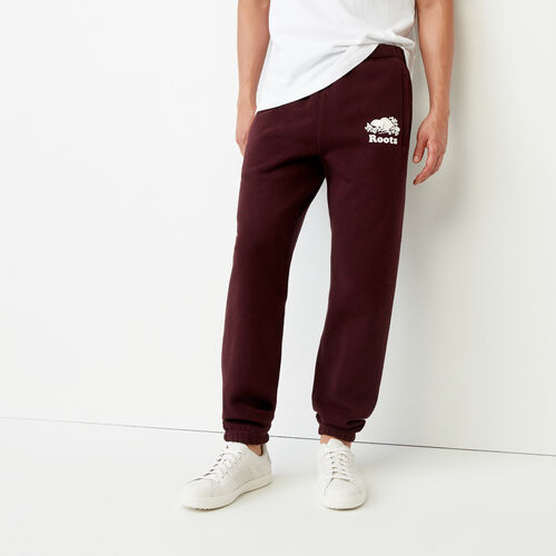 Roots-Winter Sale Men-Cooper Slim Sweatpant-Crimson Mix-A
