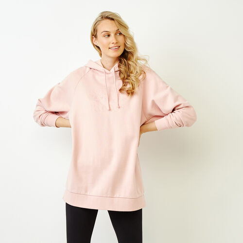 Roots-Women Categories-Sussex Tunic Hoody-Silver Pink-A