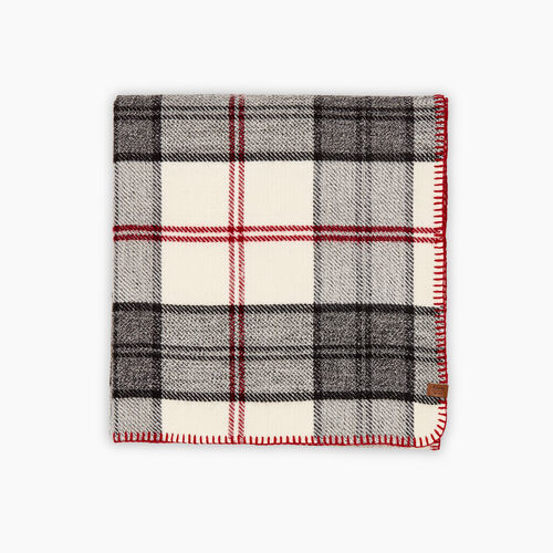 Roots-New For October Plaids-Smoke Lake Plaid Scarf-Birch White-A