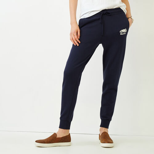 Roots-Women Sweatpants-Sussex Slim Cuff Sweatpant-Navy Blazer-A