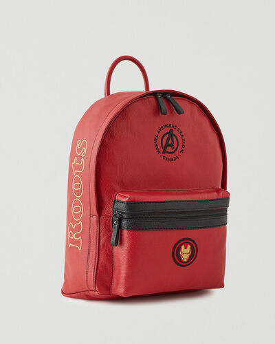 Roots-Leather Backpacks-Avengers Iron Man Leather Backpack-Red-A