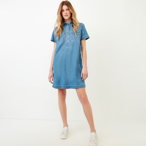 Roots-Women Our Favourite New Arrivals-Sherbrook Chambray Dress-Chambray Blue-A