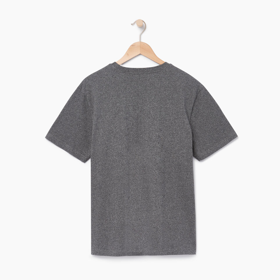 Roots-Men Our Favourite New Arrivals-Mens Roots Peak T-shirt-Charcoal Pepper-B