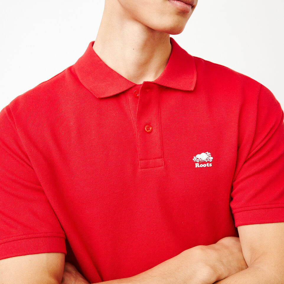 Roots-Men Categories-Heritage Pique Polo-Racing Red-E