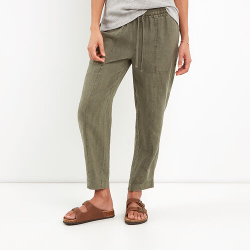 Roots-Women Bottoms-Sadie Pull On Pant-Dusty Olive-A